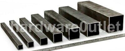 Mild Steel SQUARE BOX Section Pipe Tube Bandsaw Cut UK 11 Sizes & 10 Lengths  • 18.70£