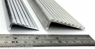 ALUMINIUM Stair Nosing FLUTED ANGLE Anti Slip Edging For Stairs Steps  • 9.96£