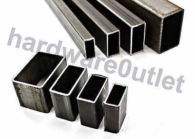 Mild Steel RECTANGLE BOX Section Tube Pipe 5 Sizes & 4 Popular Lengths Available • 12.65£