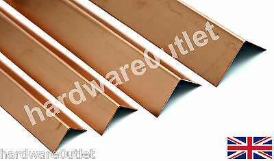 Copper Folded Angle Corner Protector 0.9mm - 10 Sizes & 15 Lengths Available • 17.33£