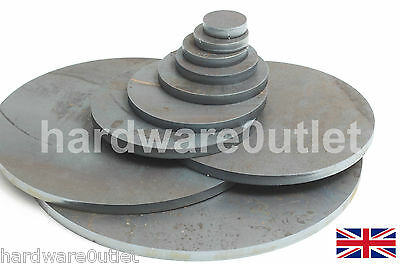 10 Mm 3/8  Round Mild Steel Blank DISC Plate Sheet 10.0 Mm Thick 40 - 300 Mm Dia • 1.10£
