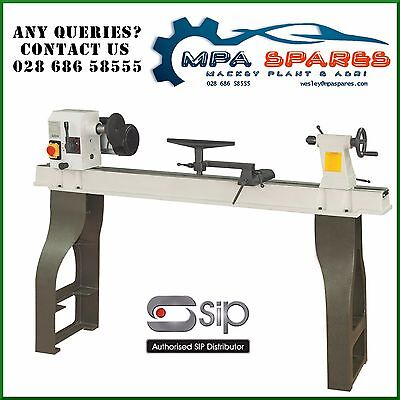 SIP 01940 ROTATING PROFESSIONAL WOOD TURNING LATHE 1100mm WITH CAST IRON LEGS • 1,031.36£