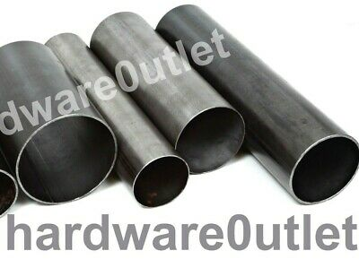 Mild Steel ROUND TUBE Metal Pipe 6 Sizes & 10 Popular Lengths Chimney Flue • 5.72£