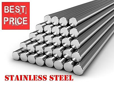 STAINLESS STEEL Round Bar Steel Rod - GRADE 304 - Various Size - 1 Meter LONG !! • 8.99£