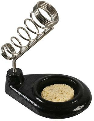 Heavy Cast Iron, Soldering Iron Stand With Spring Holder Sponge & Non Slip Base • 7.99£