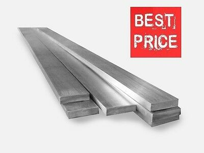 STAINLESS STEEL FLAT BARS - GRADE 304 - Various Size - 1 Meter LONG !! • 15.99£