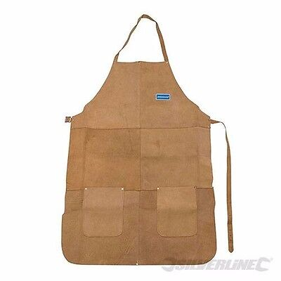 Welders Apron Protection Chrome Leather Pockets Welding Clothing Safety P341 • 14.39£
