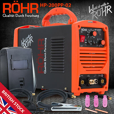 TIG ARC Welder Inverter MOSFET MMA 240V / 200 Amp, DC Portable Machine - ROHR 02 • 199.99£