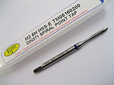 M2 X 0.4 SPIRAL POINT TAP 6H HSS-E BLUE RING DIN371 EUROPA TOOL TM05160200  A1 • 10.04£