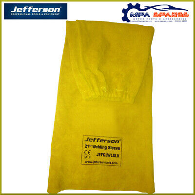 Jefferson 21  Yellow Welding Sleeves With Protected Gauntlet Cuff • 21.22£