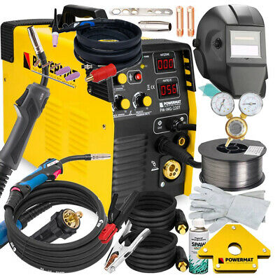 5 In 1 Mig / Mag / Tig / Fcaw / Mma Welder Inverter 220a Machine+ Accesories • 373.33£