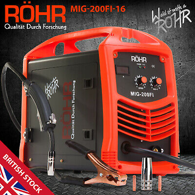 ROHR MIG Welder Inverter IGBT 240V / 200 Amp DC Gas Flux Wire Welding Machine • 219.99£