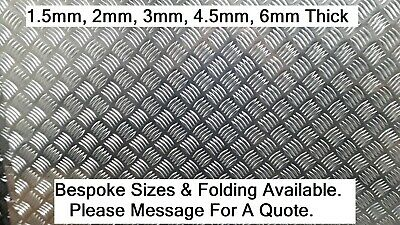 Aluminium Chequer Tread Plate Durbar 1.5mm - 4.5mm Multiple Sizes Grade 5754 • 10.08£