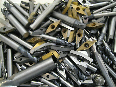 Tungsten Carbide Scrap Inserts & End Mill Drills 1kg  Paying Up To £10.50 Per Kg • 26.99£