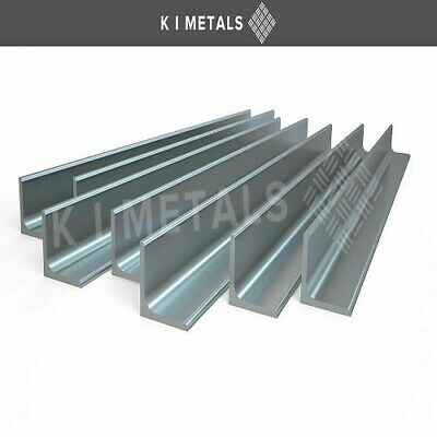 Mild Steel Angle Iron Bar Sizes 20mm To 100mm Multiple Length Thickness Quantity • 10.65£