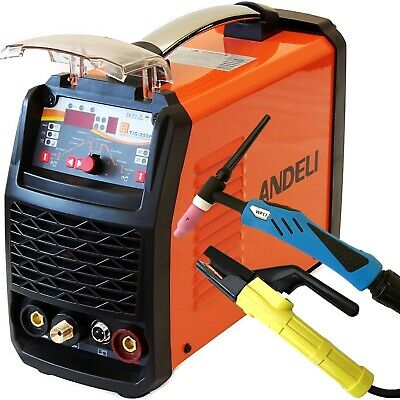 250amp Digi Pulse Tig/tig/mma 3 In 1 Dc Welding Machine Inverter Welder + Kits • 329.99£