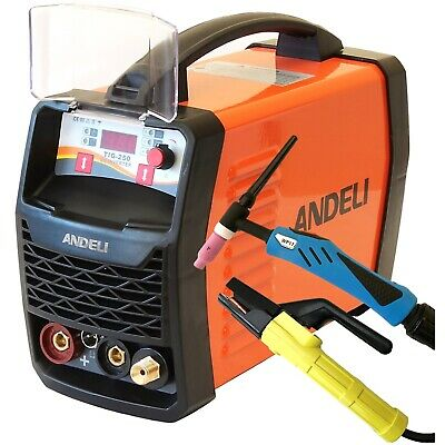 250amp Tig/mma Igbt Dc Inverter Welder Machine Hf Ignition Duty Cycle 60% +kits • 233.11£