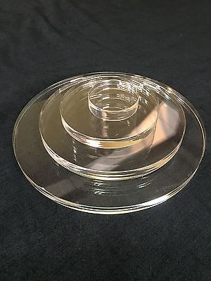 CLEAR PERSPEX ACRYLIC CIRCLE ROUND DISC 12mm THICK  • 38.89£