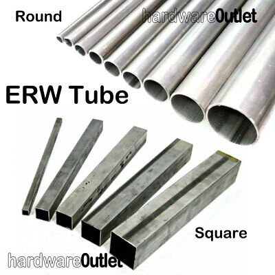 ERW Round Or Square Mild Steel TUBE Pipe Band Saw Cut UK Metal Supplier  • 3.96£
