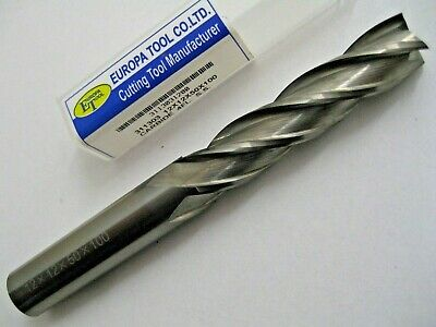 12mm CARBIDE END MILL LONG SERIES 4 FLUTED EUROPA TOOL 3113031200  145 • 41.05£