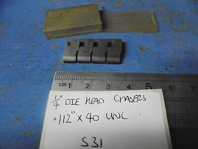 1/4  Coventry Die Head Chasers  - .112  X 40 UNC • 8£