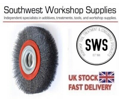 NEW SIT Bench Wheel Wire Wheel Brush 200 X29mm 38mm Core Deburring Bench Grinder • 24.95£
