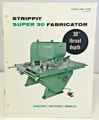 Strippit Super 30 Sheetmetal Fabricator Information Booklet Photo Images 1960s • 44.99£