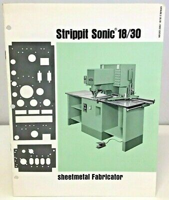 Strippit Sonic 18/30 Sheetmetal Fabricator 1st Edition Information Booklet 1965 • 49.99£