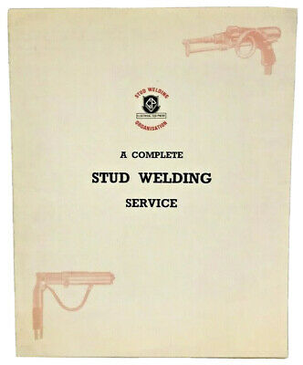 Crompton Parkinson Complete Stud Welding Service Advertising Brochure London • 10.99£