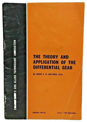 Draughtsmens Allied Technicians Association Book Theory Differential Gear 1963 • 9.99£