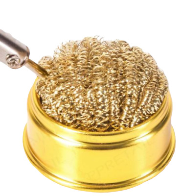 High Quality Soldering Tip Cleaning Ball And Base 60 X 60 Mm Brass Wool  • 4.95£