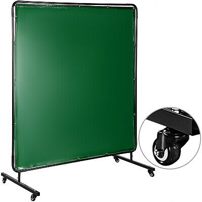 Welding Curtain Welding Screen With Frame 4 Wheels Flame-resistant Vinyl 6' X 6' • 65.89£