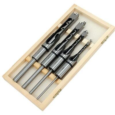 Wood Square Auger Drill Bit Set 4pc Woodwork Mortice Hole Cutter  6 10 13 16mm • 20.99£
