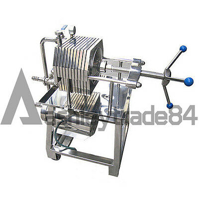 NEW 150 Stainless Steel Filter Press Filter Machine Lab Filtration Equipment • 1,337.28£