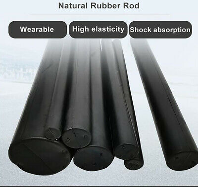 Black Natural Rubber Solid Round Rods Bar Dia. 21mm-150mm Oil Resistant Sealing • 45.85£