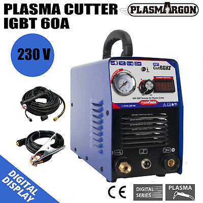 60 Amp Air Plasma Cutter HF DC Inverter Cutting Machine IGBT CUT 1-18mm 220v • 228£