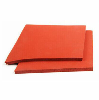 500x500mm Red Silicone Rubber Foamed Sheet Panel Thick 1~8mm, Insulation Sealing • 25.39£