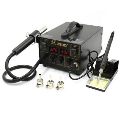 Mobile Solder Station 2 In 1 Rework Solder Iron Hot Air Heat Gun Huakko 999d+ • 55£