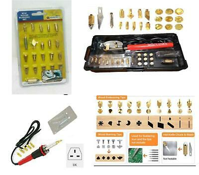 New 25/35Pcs 30W Wood Burning Pen Soldering Iron Tools Pyrography Kit Craft Tips • 11.95£
