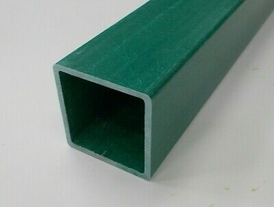 GRP (Glass Reinforced Plastic) 101.6x101.6x6.35mm Box Section 1.3m Long Green • 30.80£