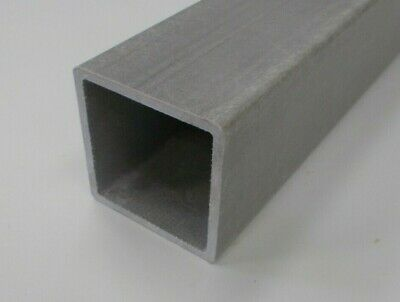 GRP (Glass Reinforced Plastic) 101.6x101.6x6.35mm Box Section 1.4m Long Grey • 30.80£