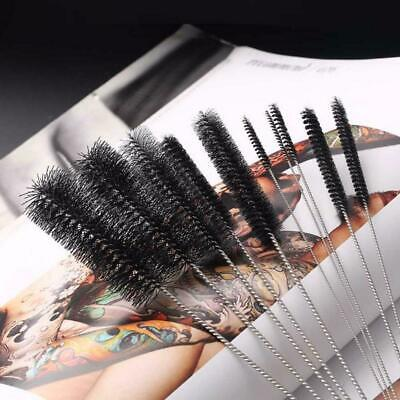 10PC 8 Inch Long Nylon Brushes ROUND TUBE GUN CLEANING BRUSH BRUSHES BOT D3P4 • 4.54£
