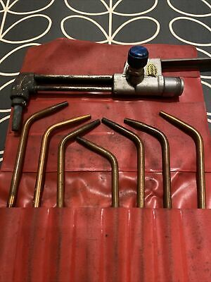 VINTAGE GAS WELDING TORCH &  NOZZELS . Very Good Used Condition • 18£