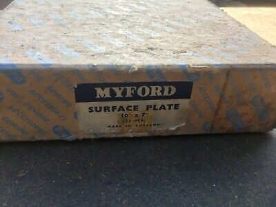"""Myford 10"""" X 7"""" Surface Plate Boxed Unused. (33/004)Still In Factory Protection • 54£"""