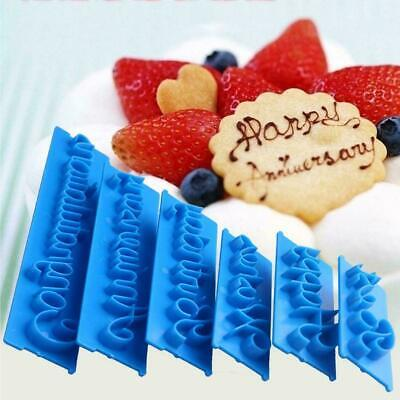 Happy Birthday Silicone Mould Cake Decoration,, Craft T1X6 • 2.69£