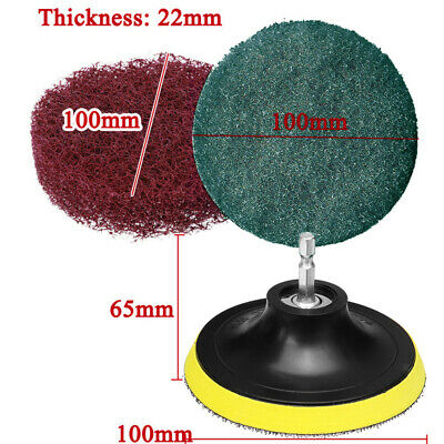 For Cleaning Surfaces Scouring Pad Cleaner Tool Polishing Cloth 14/  Hex Shank • 6.85£