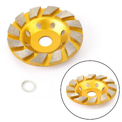 5 /125mm Concrete Turbo Diamond Grinding Cup Wheel Cup Disc Grinder AY • 20.39£