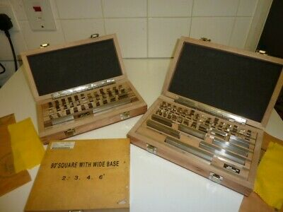 Gauge Block Sets , One Metric , One Imperial And Machinists Squares • 480£