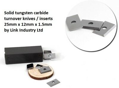 10 Pces. 25 X 12 X 1.5mm CARBIDE REVERSIBLE TURN BLADES REVERSIBLE TIP KNIVES • 19.08£