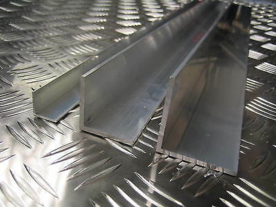 Aluminium Angle L Shape Unequal Multiple Sizes And Lengths 6063T6 6082T6 2 • 20.46£